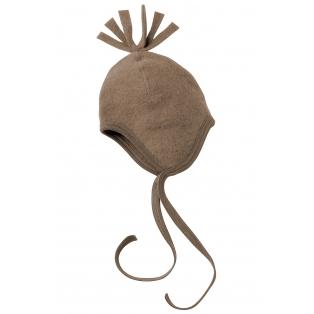 Tellimisel: Vanutatud villast tutiga beebimüts, kreekapähklipruun