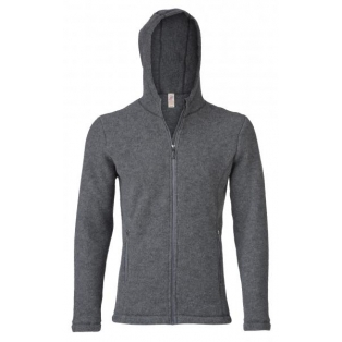 Men's jacket, hooded, waisted, with zip