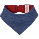 Upon order: Baby wool neckerchief, blue melange