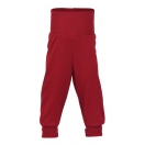 Upon order: Baby wool pants with waistband, red melange
