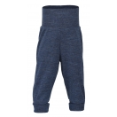 Upon order: Baby wool pants with waistband, blue melange