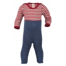 Upon order: Baby wool overall with cuffs to close at the legs, natural