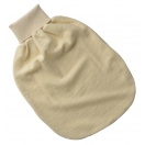 Upon order: Baby wool terry romper pouch, natural