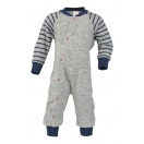 Upon order: Baby one-piece pyjama with feet, grey melange
