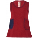 Upon order: Baby wool terry dress, red