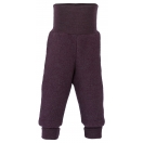 Upon order: Baby pants long with waistband, lilac melange