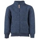 Upon order: Baby wool jacket with zipper, blue