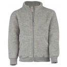 Upon order: Baby wool jacket with zipper, light grey