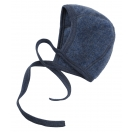 Upon order: Baby wool bonnet, blue