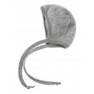 Upon order: Baby wool bonnet, light grey