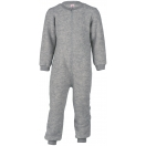 Upon order: Baby wool fleece overall with zipper, light grey