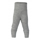 Upon order: Baby wool-silk pants with waistband, light grey