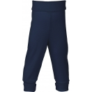 Upon order: Baby wool-silk pants with waistband, navy-blue