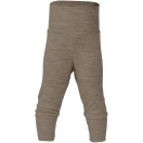 Upon order: Baby wool-silk pants with waistband, walnut