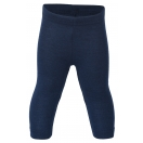 Upon order: Baby wool-silk leggings, fine rib, blue