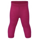 Upon order: Baby wool-silk leggings, fine rib, raspberry