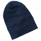 Upon order: Baby hat wool-silk, navy-blue