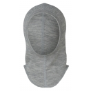 Upon order: Baby wool-silk balaclava, light grey