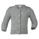 Upon order: Baby wool-silk cardigan, light grey