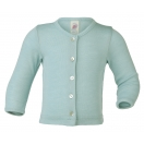 Upon order: Baby wool-silk cardigan, glacier