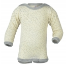 Upon order: Baby wool-silk  long sleeved body with press studs on the shoulders, dotted