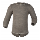 Upon order: Baby wool-silk  long sleeved body with press studs on the shoulders, walnut