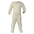 Upon order: Baby wool-silk sleep overall, natural