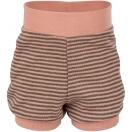 Upon order: Baby wool-silk summer shorts, salmon-wallnut
