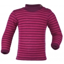 Upon order: Baby wool-silk shirt long sleeved, fine rib, raspberry