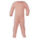 Upon order: Baby wool-silk sleep overall, salmon-natural