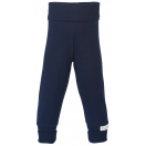 Upon order: Baby cotton pants long with waistband, indigo