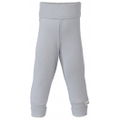 Upon order: Baby cotton pants long with waistband, silver
