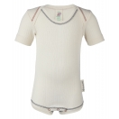 Upon order: Baby cotton body short sleeved, natural