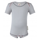 Upon order: Baby cotton body short sleeved, silver