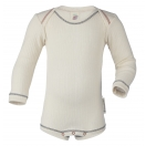 Upon order: Baby cotton body long sleeved, natural