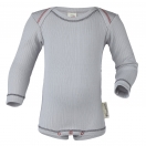 Upon order: Baby cotton body long sleeved, silver
