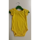 Eco cotton short-sleeved bodysuit -yellow