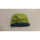 Eco cotton fleece reversible hat – light green/ turquise
