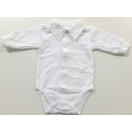Eco cotton bodysuit: white