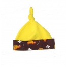 Eco cotton knotted hat (yellow)