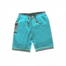 Organic cotton shorts, turquise blue