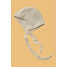 Baby-bonnet, wool/silk