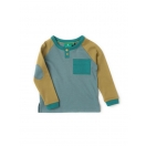 Still Water Blue Raglan sleeves shirt