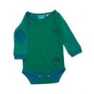 Green dimond long sleeve baby body
