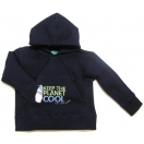 Hoodie KEEP THE PLANET COOL, blue