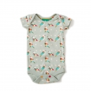 Pale Aqua Origami Birds Baby Body