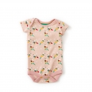 Cloud Pink Origami Birds Baby Body