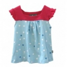 Blue Polka Dot Sleevless Sundress