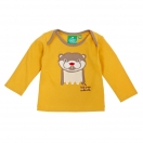 Otter applique tee gold shirt