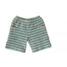 Frotee lühikesed püksid, sinine-oranz triip